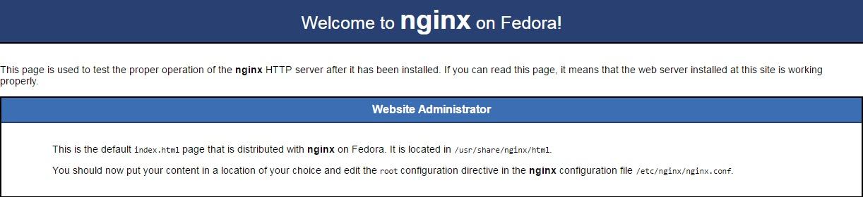 nginx-main-page